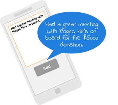 DonorPerfect Mobile App Illustration