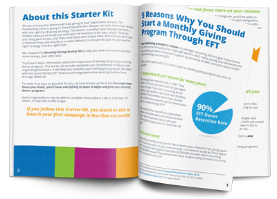 Monthly Giving Starter Kit E-Book