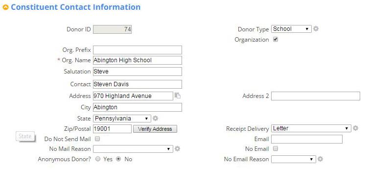 Nonprofit Organization Smart Screen: Organization Database Management & Reporting Software