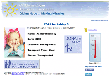 COTA Fundraising Success with DonorPages