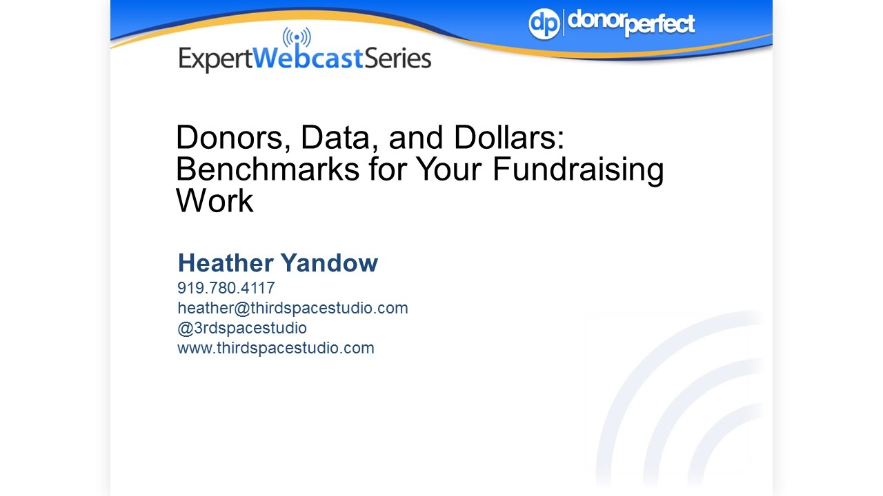 Donors, Data, and Dollars: Benchmarks for Your Fundraising Work