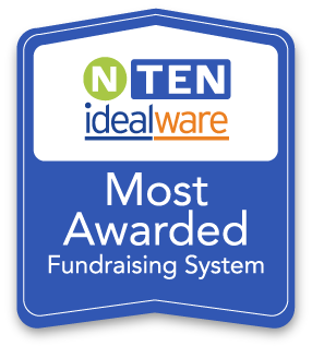 NTEN IdealWare Most Awarded Fundraising Software Badge