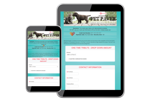 #GivingTuesday Online Donation Form
