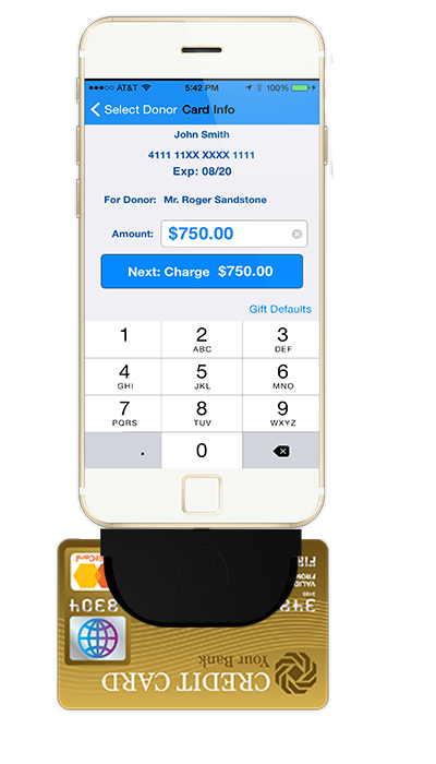 Fundraising App with Credit Card Reader Swipe - DPMobile Fundraising App