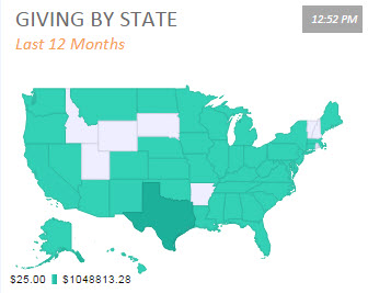 Fundraising-by-State Dashboard Screenshot