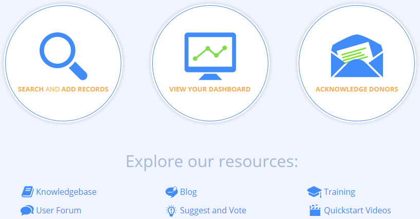 Fundraising Dashboard Landing Page Screenshot