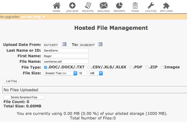Hosted Non Profit File Storage