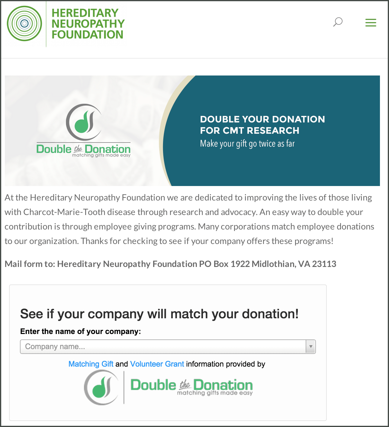 matching donation form