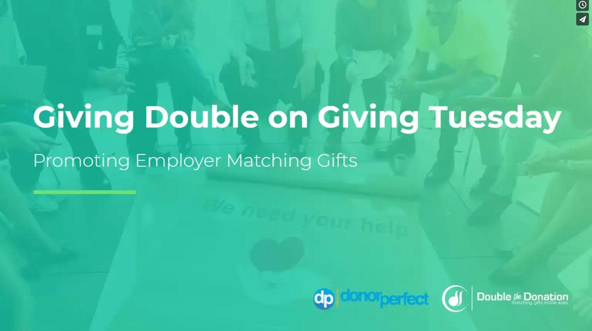matching gifts webinar