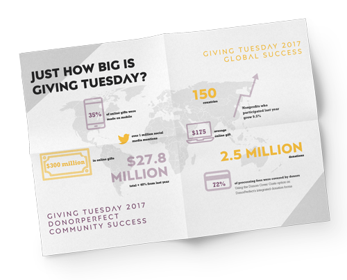 GivingTuesday 2017 giving results infographic