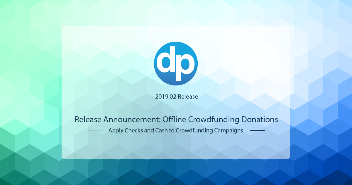 Track your Crowdfunding campaign's impact! Learn how you can apply offline donations, like checks or cash, to your crowdfunding campaigns in DonorPerfect.