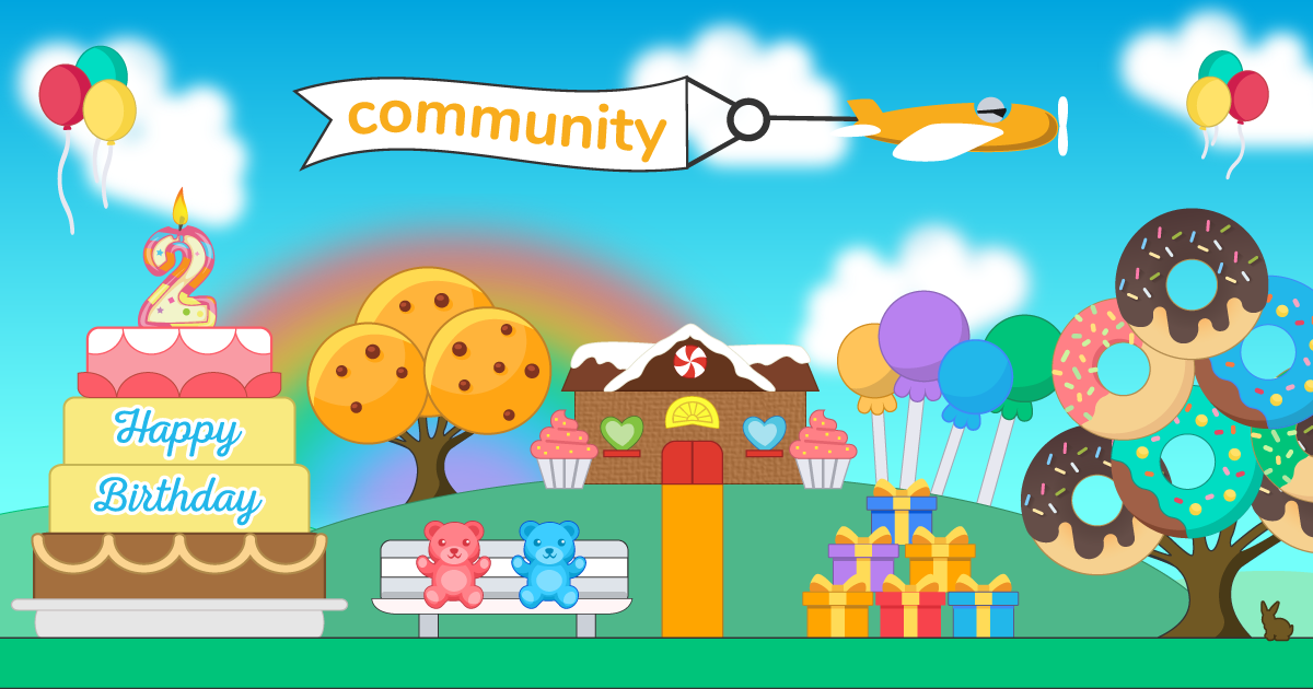 DP Community, our online community for the DonorPerfect family of products, turns two this month and we're celebrating with some sweet new upgrades.
