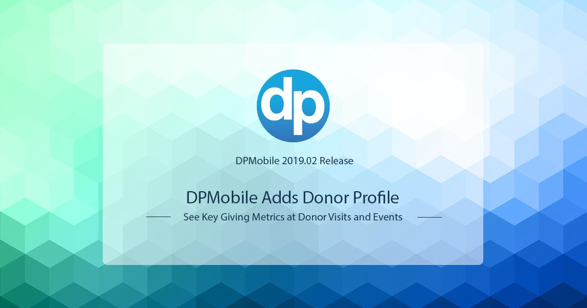 Check your donor's key giving metrics anywhere, anytime with DPMobile, the free mobile fundraising app from DonorPerfect, now with Donor Profile.