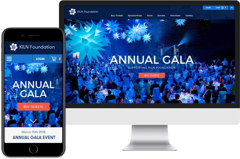 Raisin Annual Gala Fundraising Page Screenshot