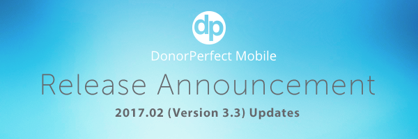 The 2017.02 DPMobile release includes the ability to accept mobile monthly giving & pledge payments, expanded search capabilities and better security.