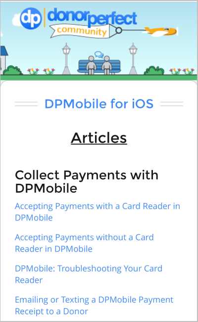 All DPMobile help documentation (iOS and Android), including our video library, is now in DP Community.