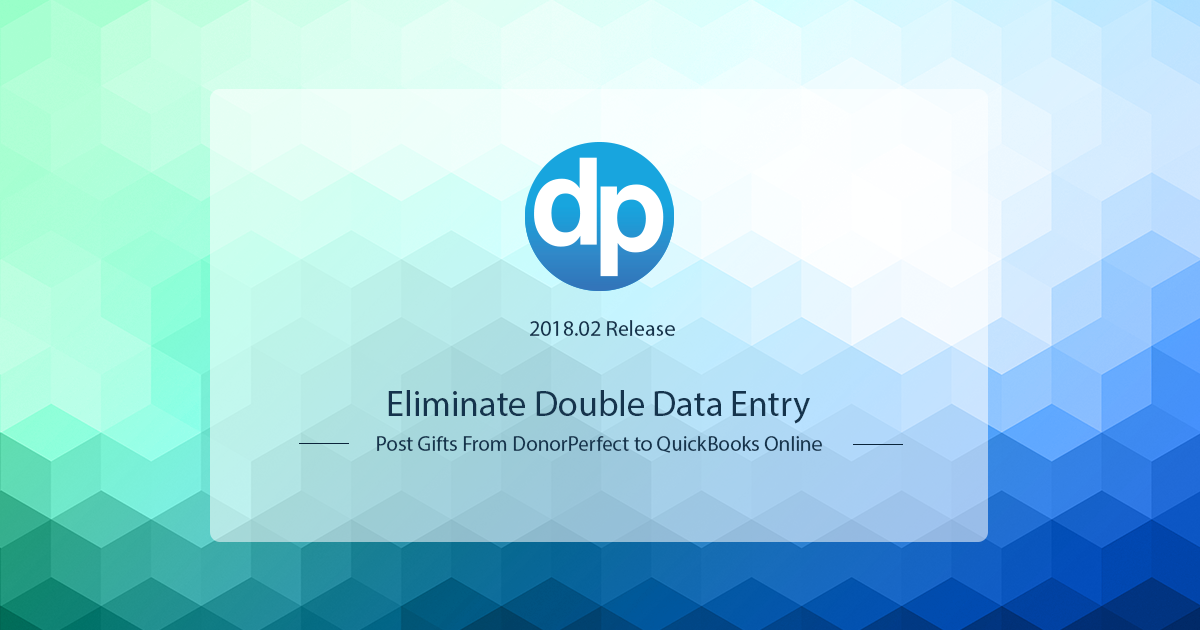 Eliminate double data entry to your nonprofit accounting software. Post gifts from DonorPerfect to QuickBooks Online seamlessly.