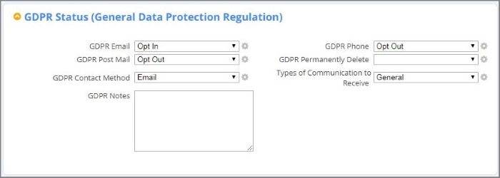 DonorPerfect supports tracking and managing GDPR requirements for donor data and communications preferences.