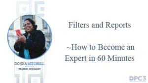 filters and reporting