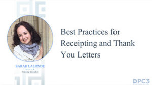 Best Practices for Receipting and Thank You Letters