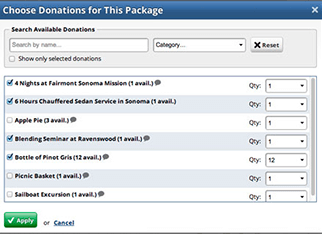 Nonprofit fundraising events and auction software